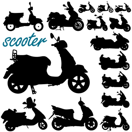 motor scooter: scooter motorcycle vector