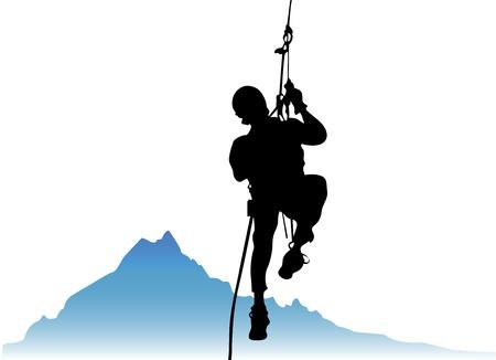 adrenalina: vector de escalador Vectores
