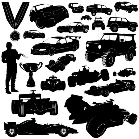 one: formula and automobile sports vector