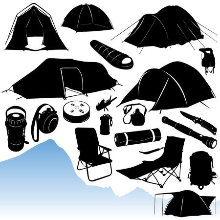 campamento: vector de acampada