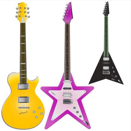 resonancia: vector de guitarras Vectores