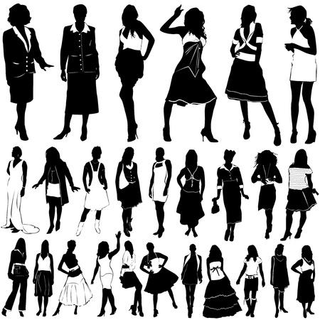 欲望: ファッション女性ベクトル (服詳細)