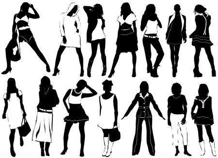 sexes: fashion women vector (clothes detail)