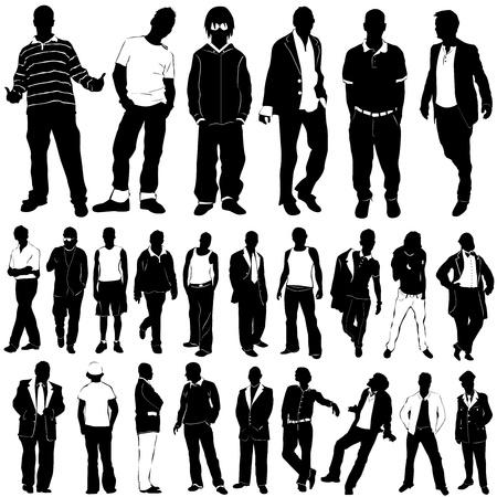 hair style: fashion men vector (clothes detail)