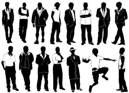 vecteur de mode pour hommes (détail de vêtements)