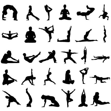 yoga vector Stock Vector - 9505671