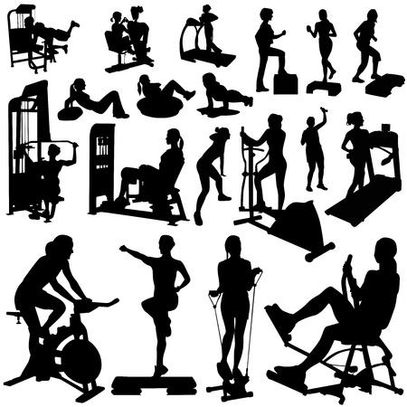 fitness women vector  Vector