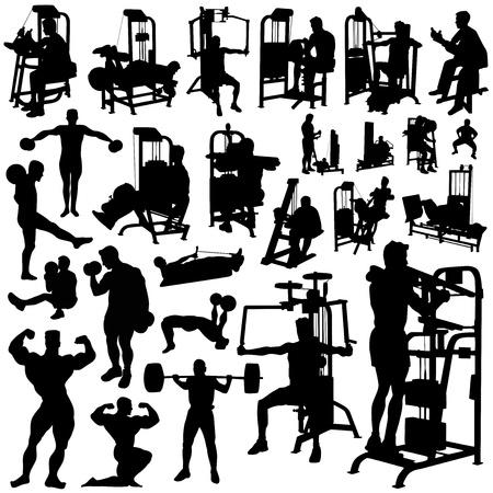 fitness men vector  Vector