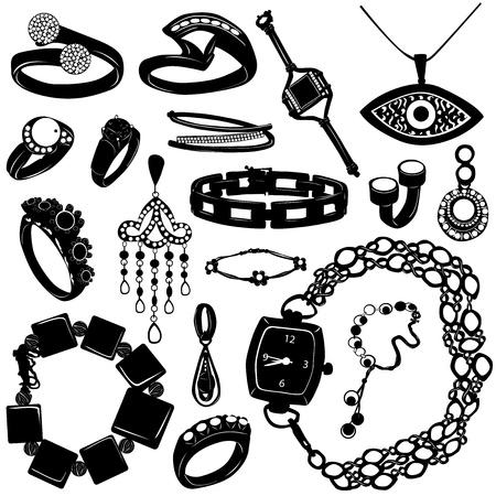 colliers: bijoux pour vecteur de femmes  Illustration