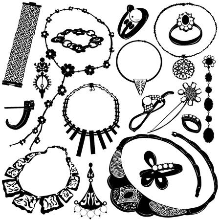 collares: joyas de vector de las mujeres