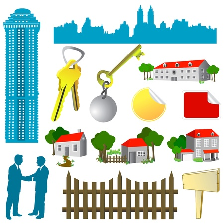 residental: collection of real estate vector