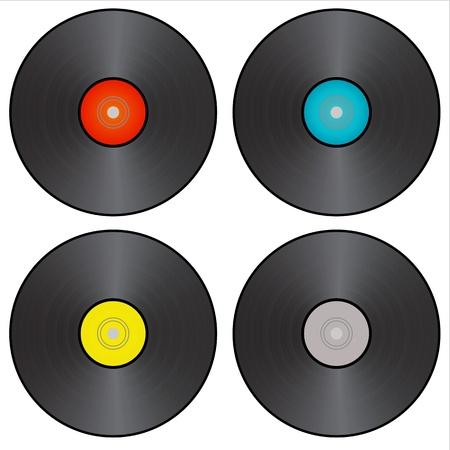 disk jockey: dj vinly vector