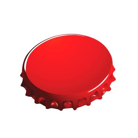 message in bottle: bottle cap vector