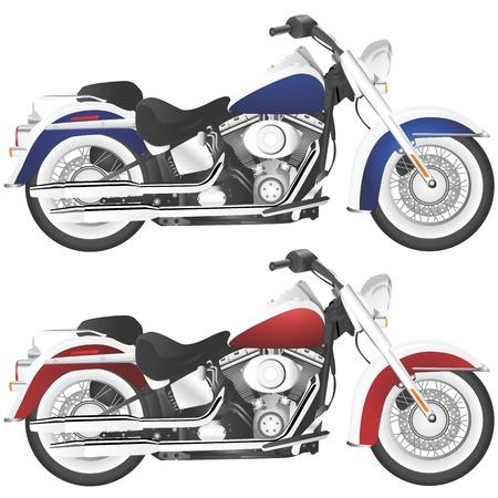 motorcycle chopper (detail )  Vector