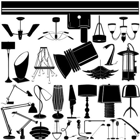 table decor: modern lighting vector