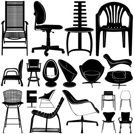 modern homes: modern chair vector