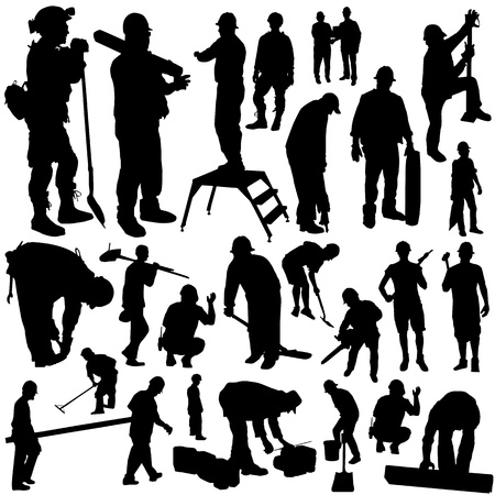 building construction site: construction workers vector