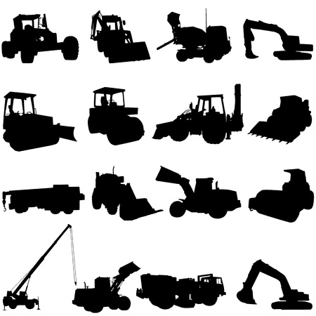 machinery: construction machine vector