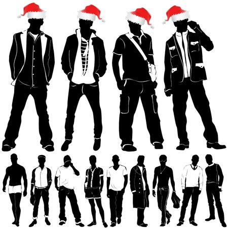 christmas fashion men  Stock Vector - 9505708