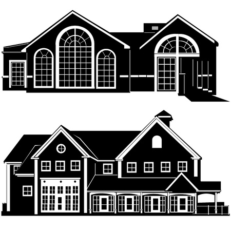 residences building vector Stock Vector - 9505640