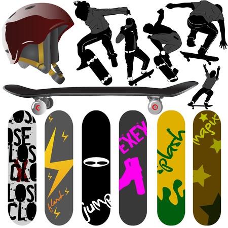 grind: skateboard vector Illustration