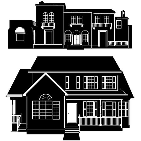 residences building vector Vector