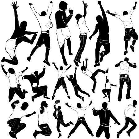 dancing and party men vector Vector