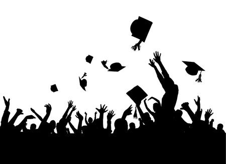 laurea: vettore di festa di laurea