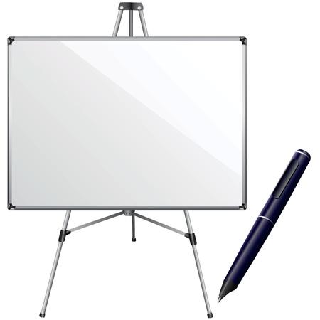 white board and pen vector  Vector