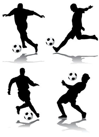 betting: soccer player vector