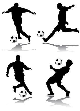 sparare: vettore di giocatore di calcio Vettoriali