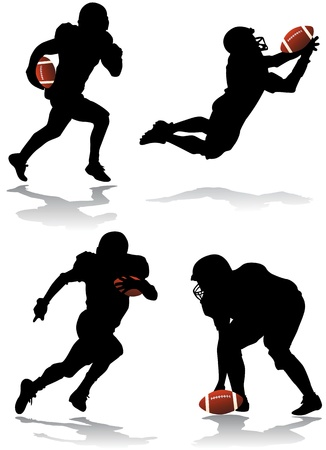 football american: american football player vector Illustration