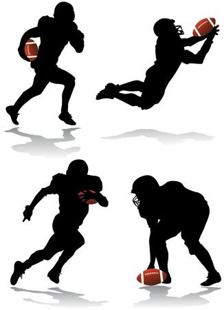 fuball spieler: American Football-Spieler Vektor