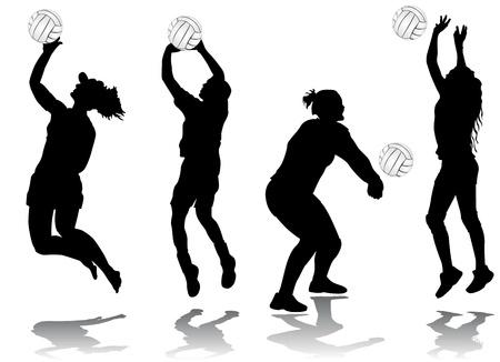 pallavolo: vettore di giocatore di pallavolo  Vettoriali