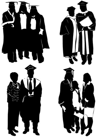graduate with family Stock Vector - 9505607