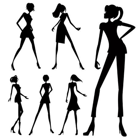 woman shadow: fashion woman set
