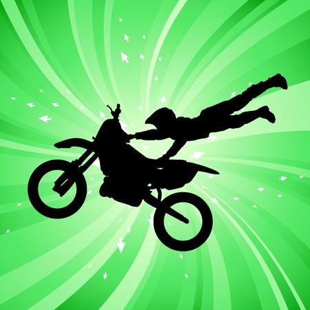 motorbike jumping: motocross  Illustration