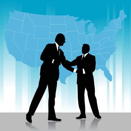 business agreement with america map  Vector