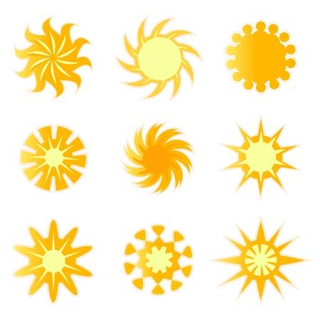 sun designs vector Stock Vector - 9592710