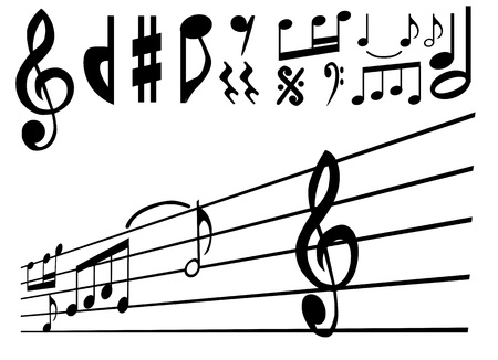 music note and sign vector  Vector