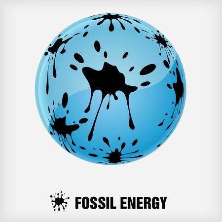 symbole de recyclage, énergie fossile