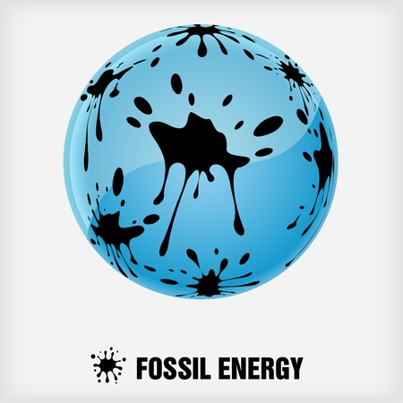 recycle symbol, fossil energy