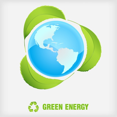 recycle symbol, green energy Stock Vector - 9592776