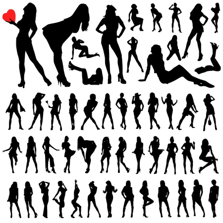 sensual: collection of sexy woman vector
