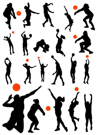 voleibol: colecci�n de vector de voleibol