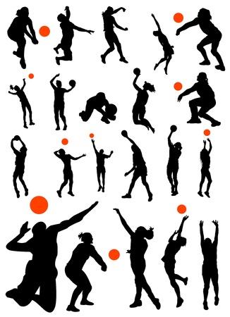 バレーボールのベクトルのコレクション