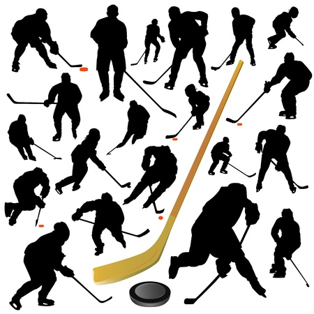 hockey player: collection of hockey vector