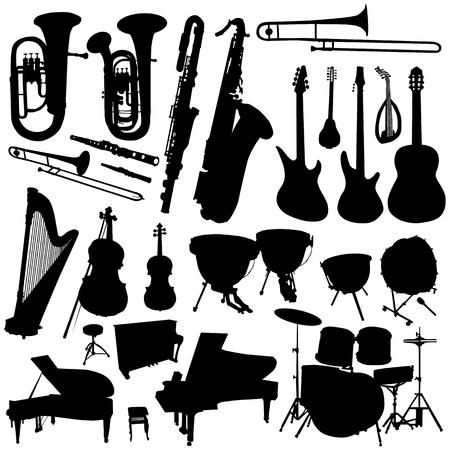 harfe: Sammlung von Musik Vektor