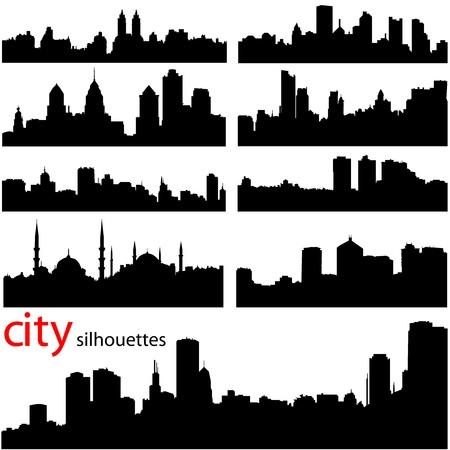 メトロポリス: 都市の背景のベクトル  イラスト・ベクター素材