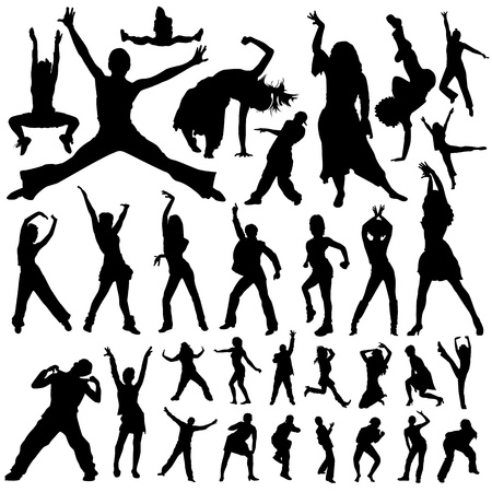 dancing and party people vector Vector